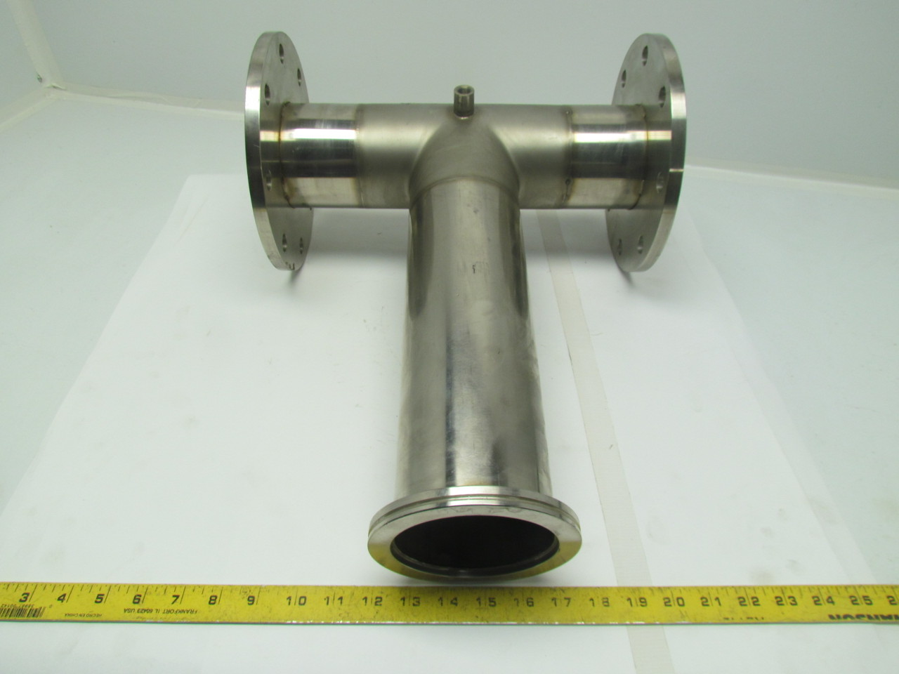 4 Quot Stainless Steel Sanitary Pipe Tee Fitting Assembly Ebay