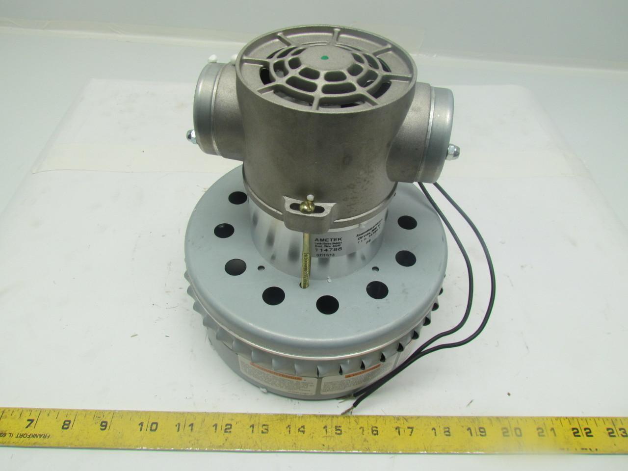 Ametek Lamb 114788 4m879 Ametek Vacuum Motor 2 Stage Ball