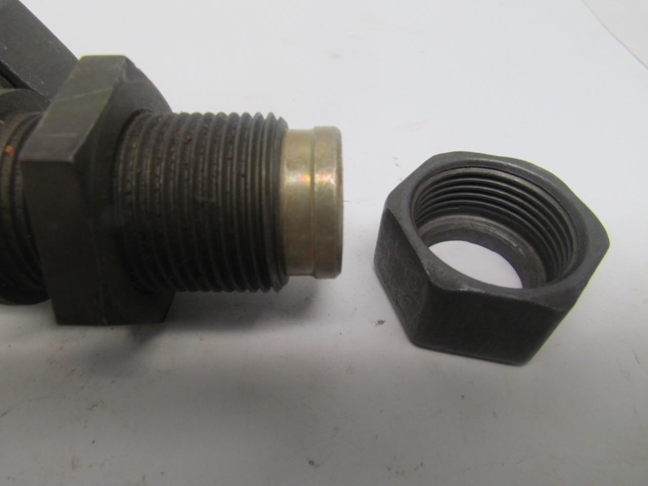 Parker metric bite type fitting deg bulkhead union elbow