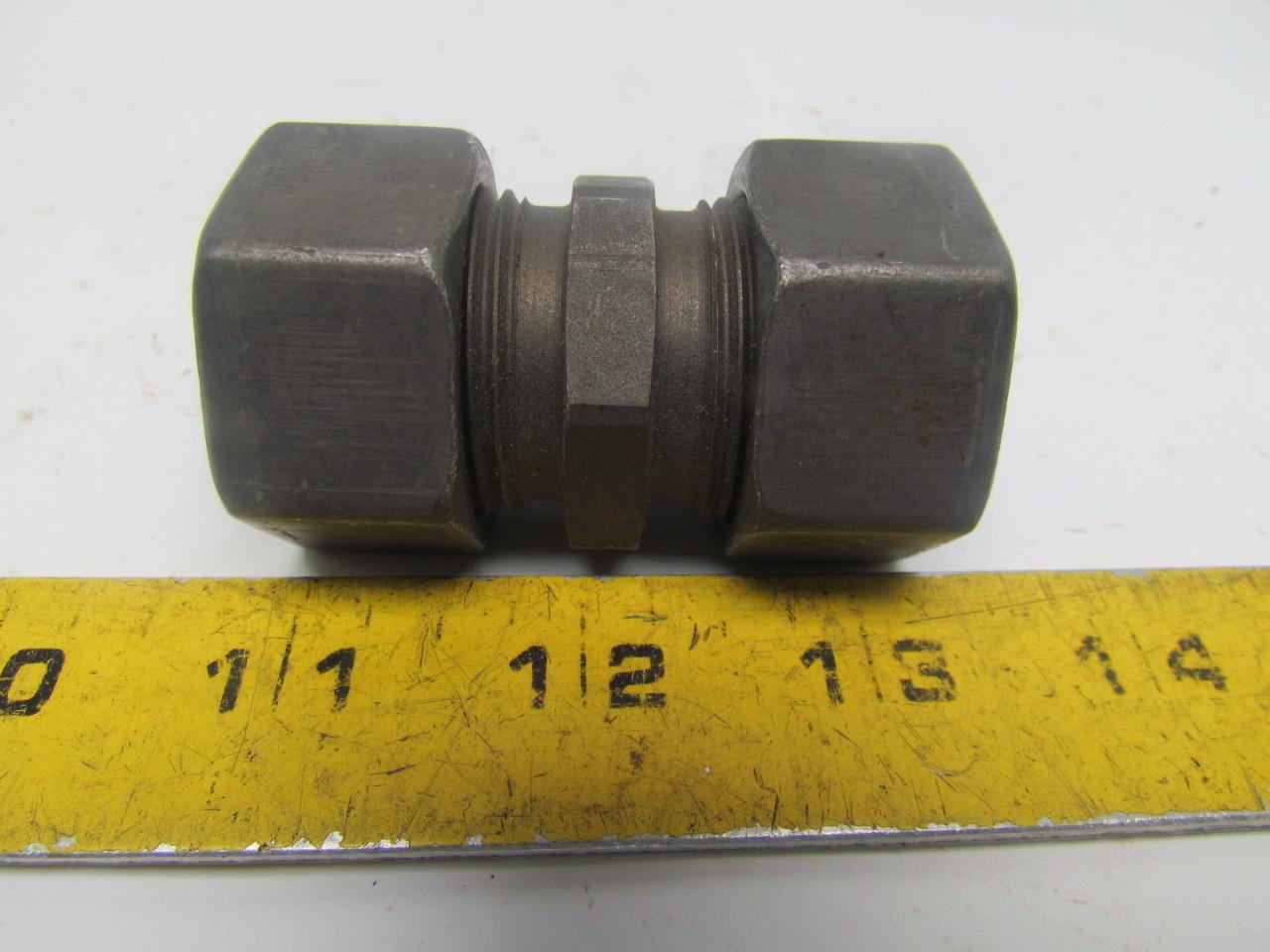 Parker eo g l metric bite type compression fitting union
