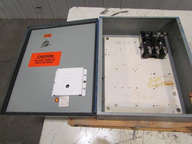 hoffman 24x20x7 electrical enclosure box 30a fusible. Black Bedroom Furniture Sets. Home Design Ideas
