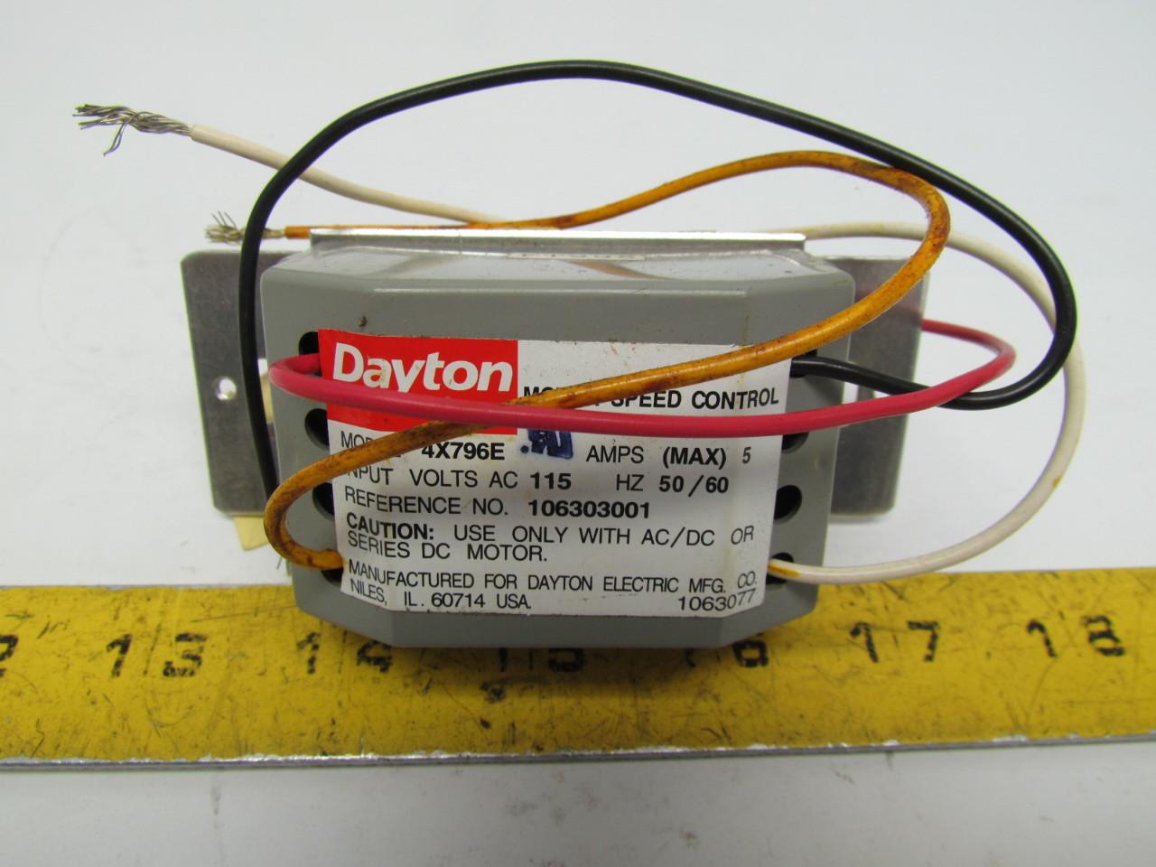 Dayton 4x796e Motor Speed Control 115v 50 60 Hz Ebay
