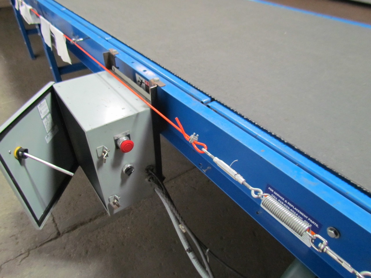 Lewco mdcs 36 36 wide medium duty slider bed powered belt Motorized conveyor belt