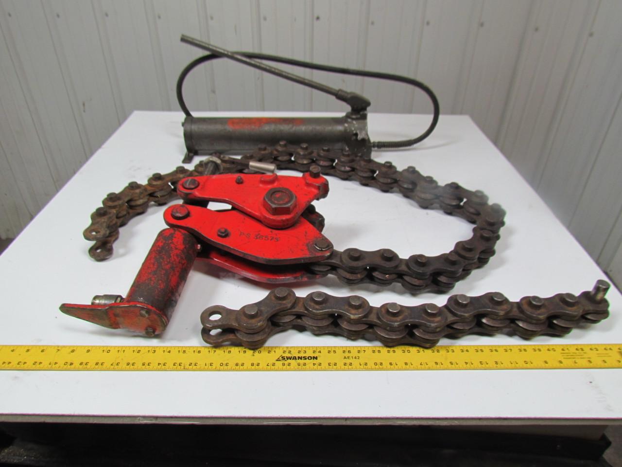 Wheeler rex hydraulic pipe cracker cutter for cast