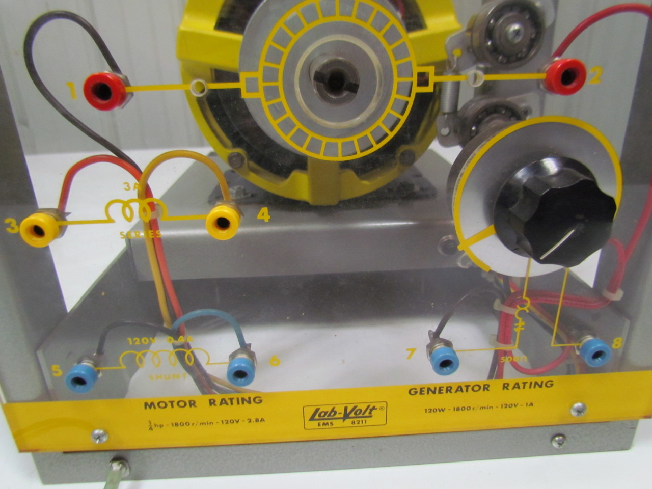 Lab Volt Ems 8211 Dc Machine Generator Motor