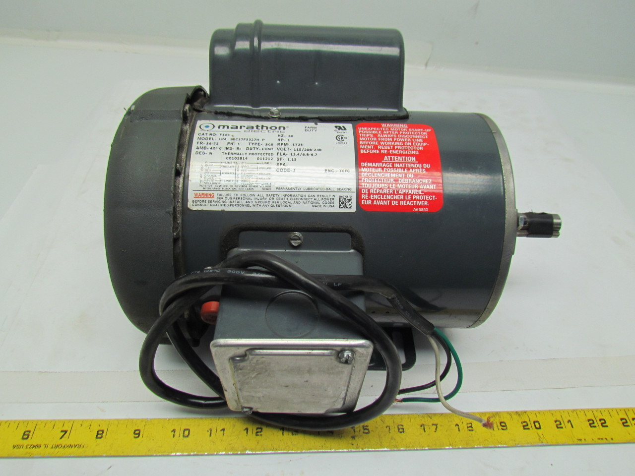 Lpa 56c17f5327hp 1hp Jet Drill Press Electric Motor Farm