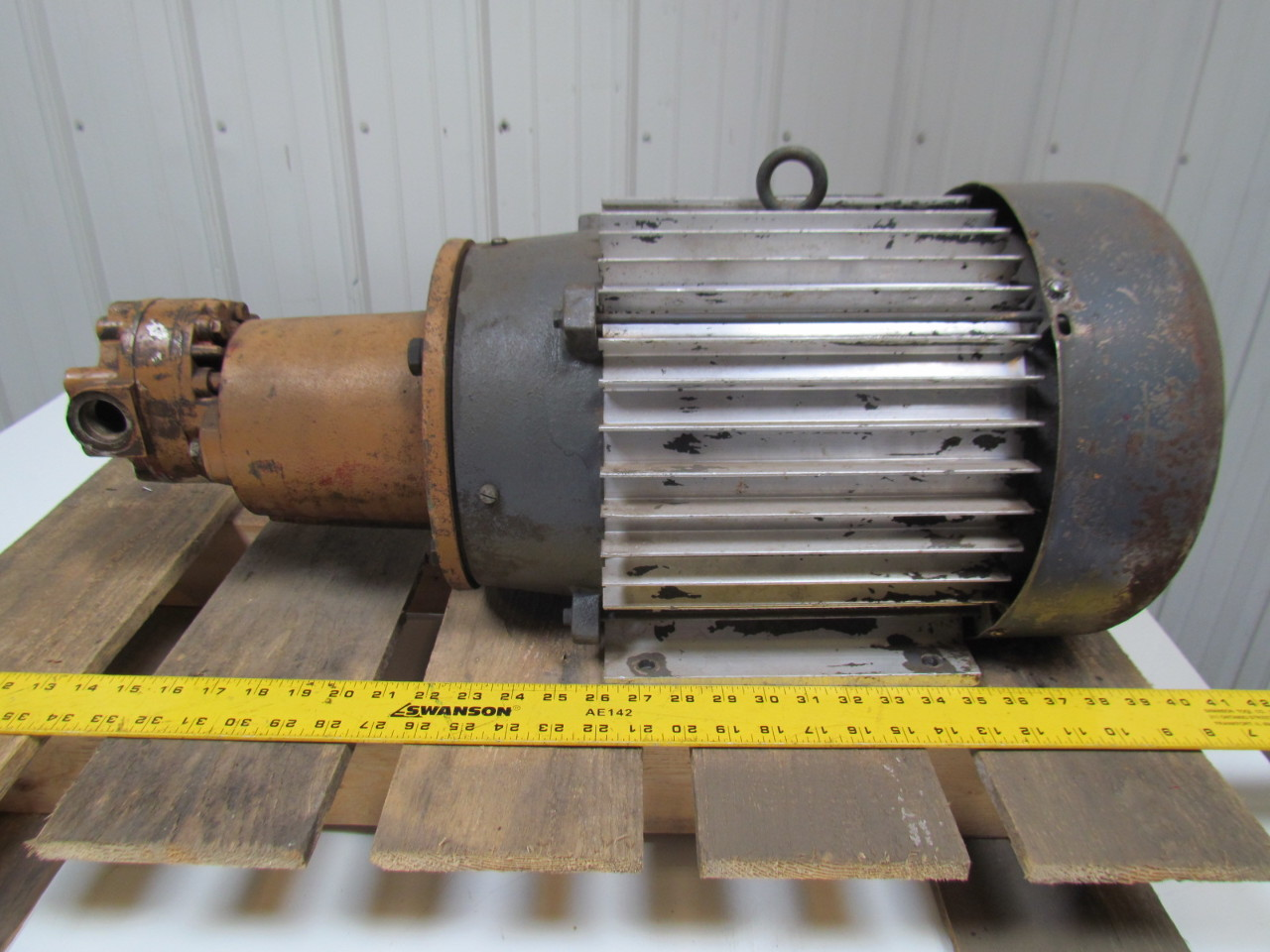 Century parker 6 35543740 h49aa1a 5hp hydraulic power unit for Motor and pump coupling