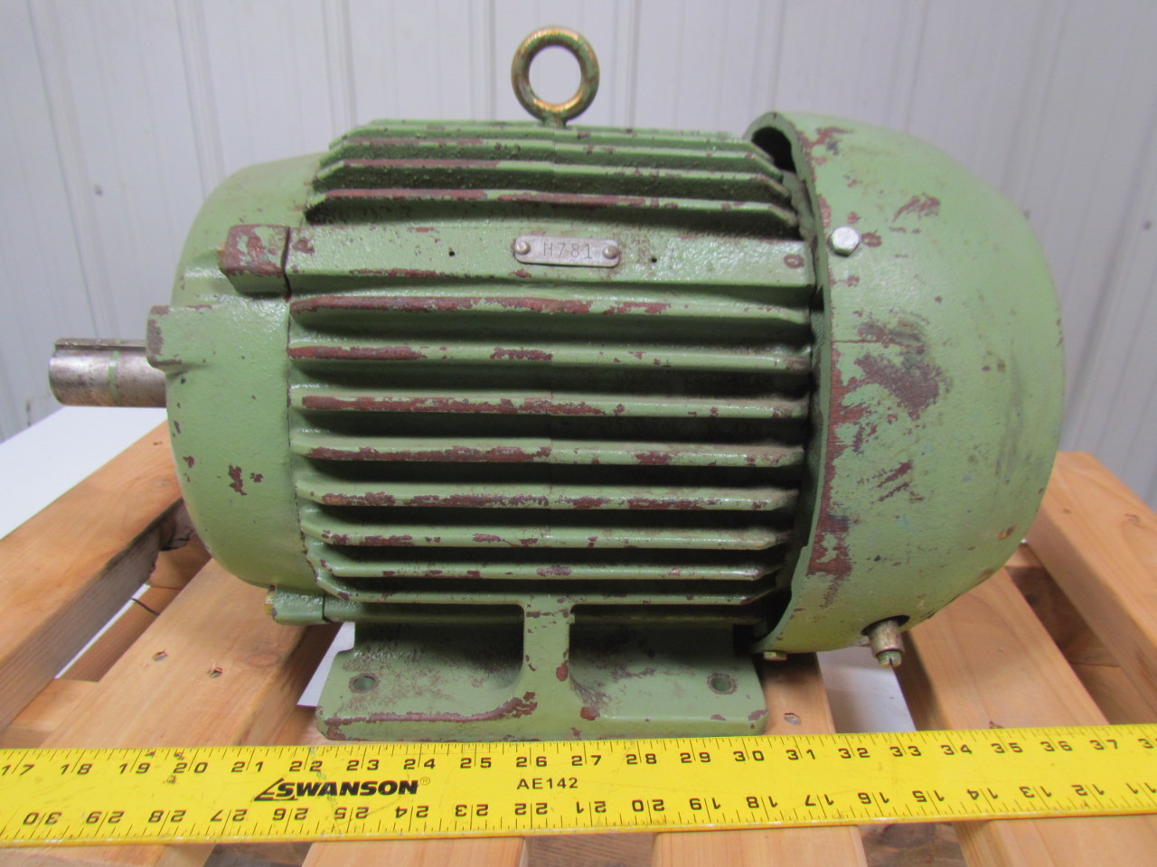 Allis Chalmers Rgz 10hp Induction Motor 230 460v 3ph 215t