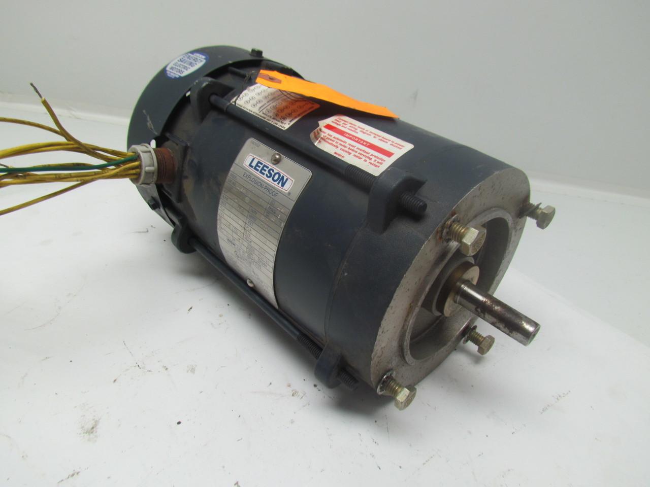 Leeson a6t17xc22g 1hp 1725 1425rpm 3ph f56c frame for Leeson explosion proof motor
