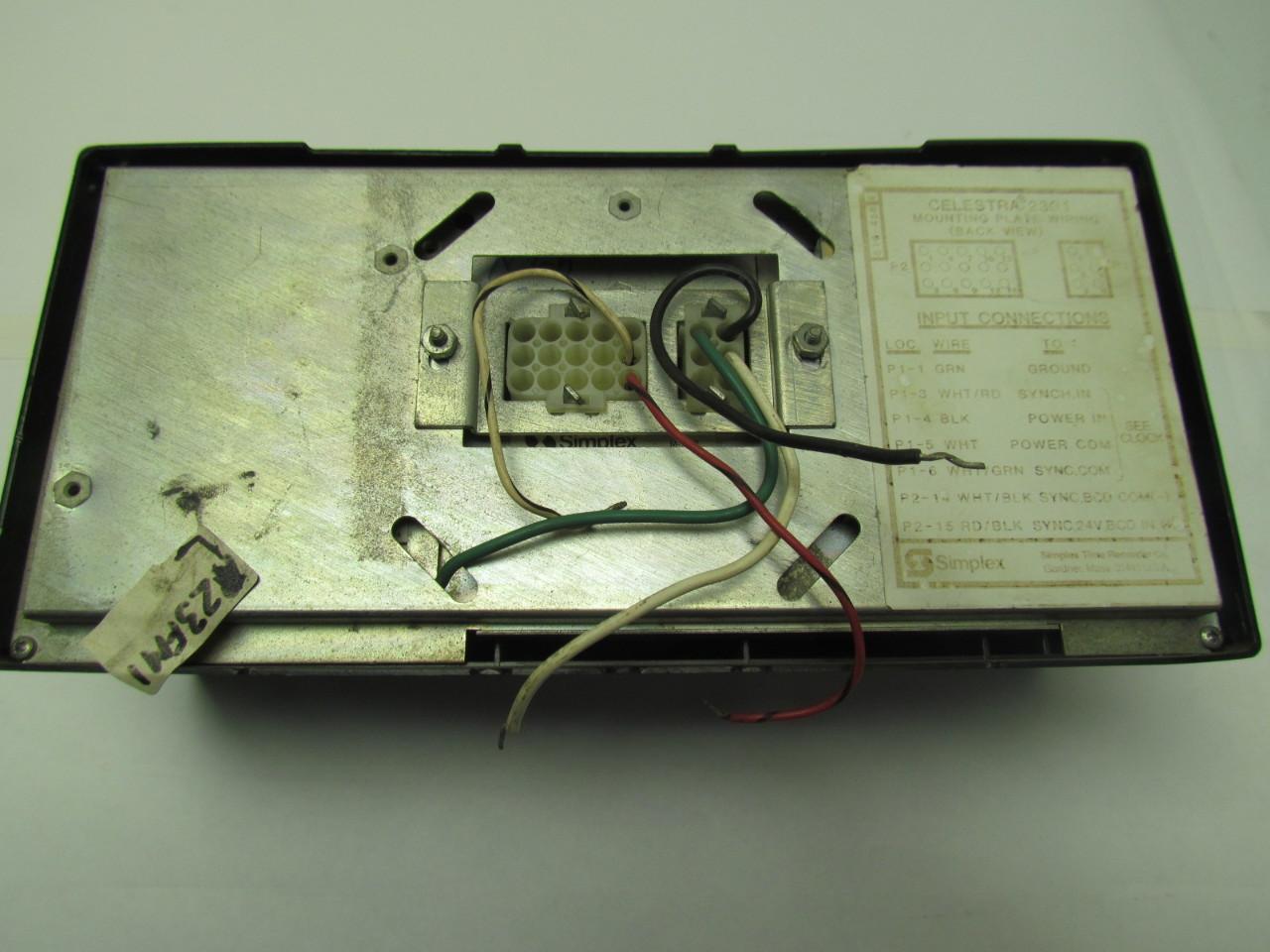 simplex celestra 2301 time recorder digital clock display 120v Simplex Clock Wiring simplex celestra 2301 time recorder digital clock display 120v 2amp 60hz simplex clock wiring