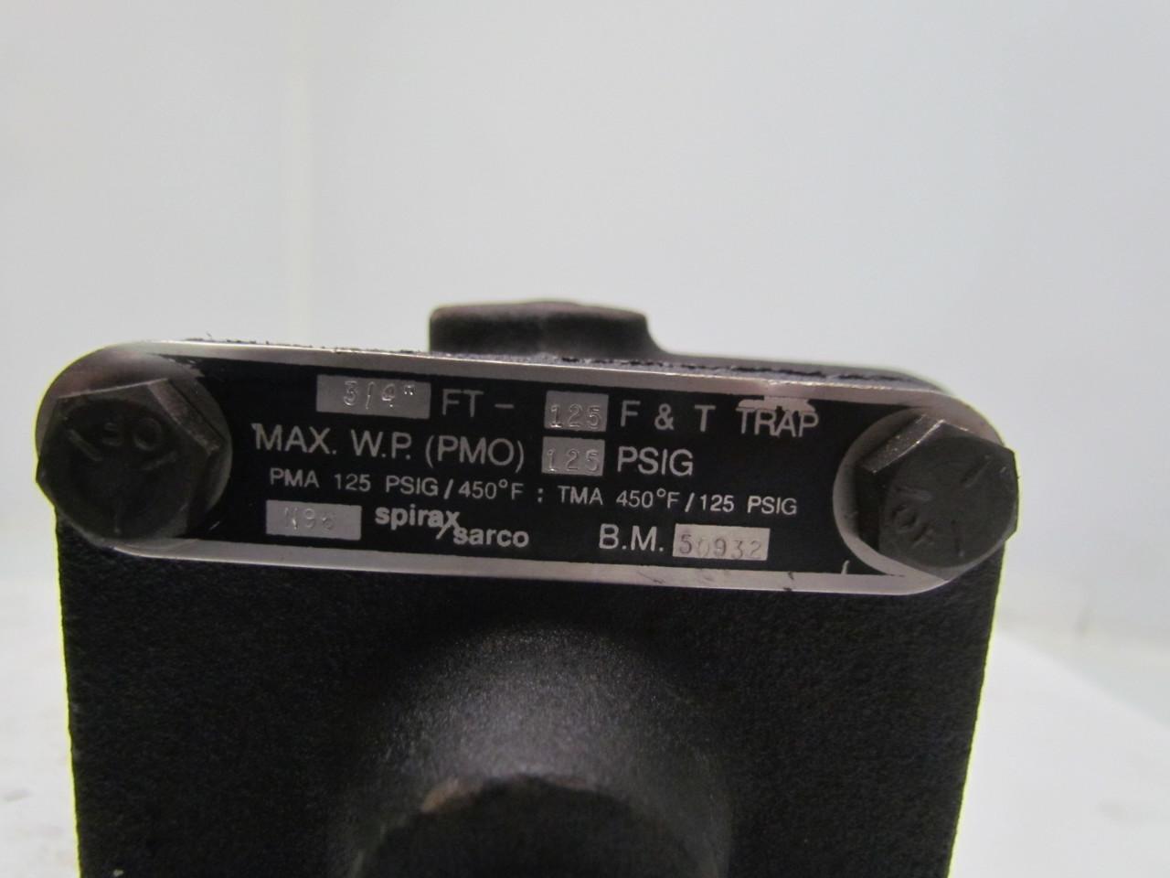 Spirax Sarco B.M. 50932 N96 F&T Steam Trap 3/4FT-125 | eBay