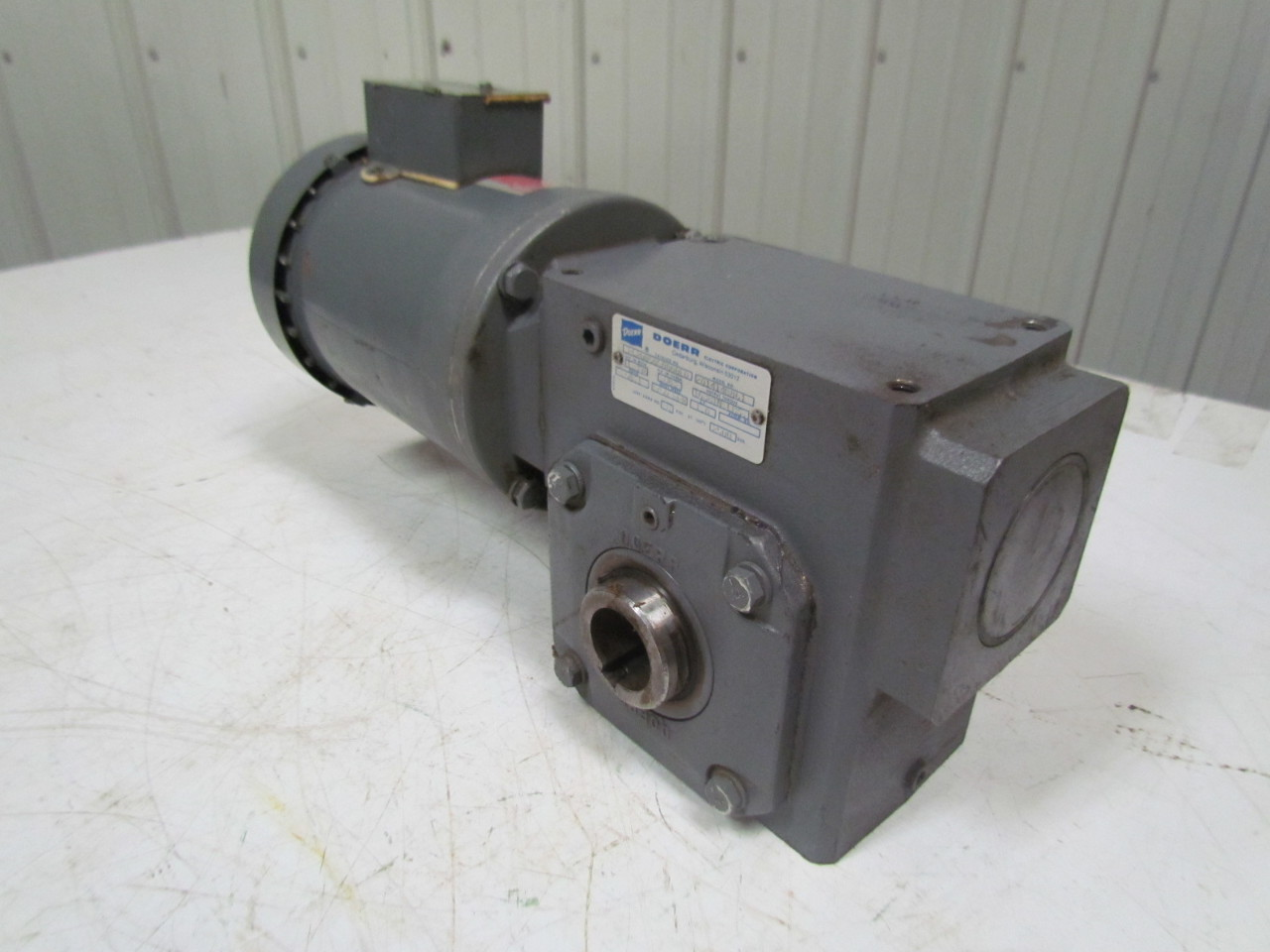 Doerr 201414b861 gearbox 50 1 ratio w lr 22132 electric motor Electric motor with gearbox