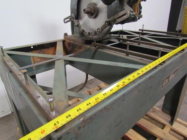 Dewalt Model Gpn2 Radial Arm Saw 3hp 200 220 440v 3ph W