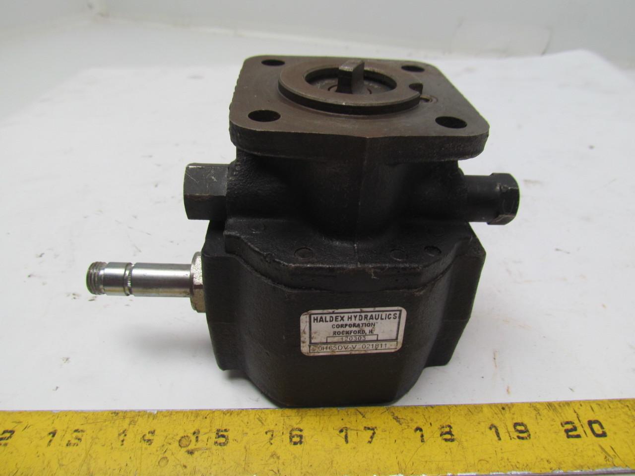 Haldex 0h65dv V 021811 Hydraulic Gear Pump Motor Ebay