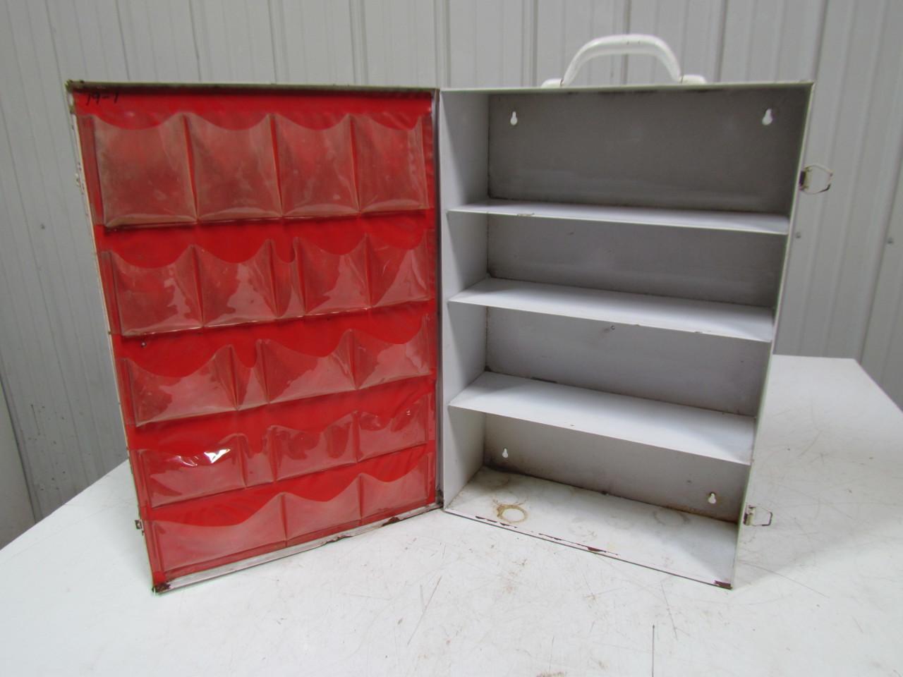 vintage metal industrial first aid cabinet box wall mount 4 shelves ebay. Black Bedroom Furniture Sets. Home Design Ideas