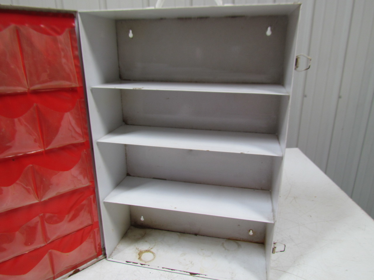 Vintage Metal Industrial First Aid Cabinet Box Wall Mount 4 ...
