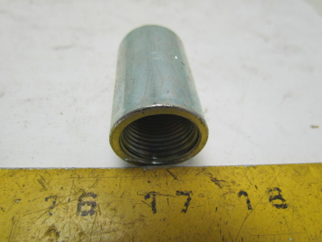 1 2 Quot Threaded Steel Couplers : Ecusa j quot steel rigid conduit threaded coupling