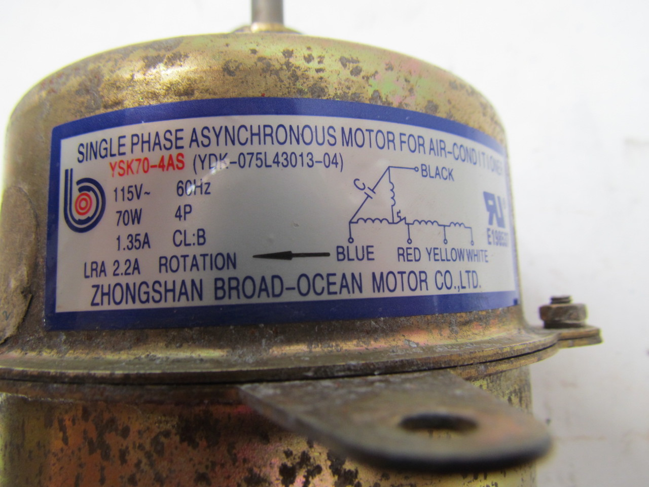 Zhongshan broad ocean ysk70 4as 1ph asynchronous motor for Broad ocean motor co