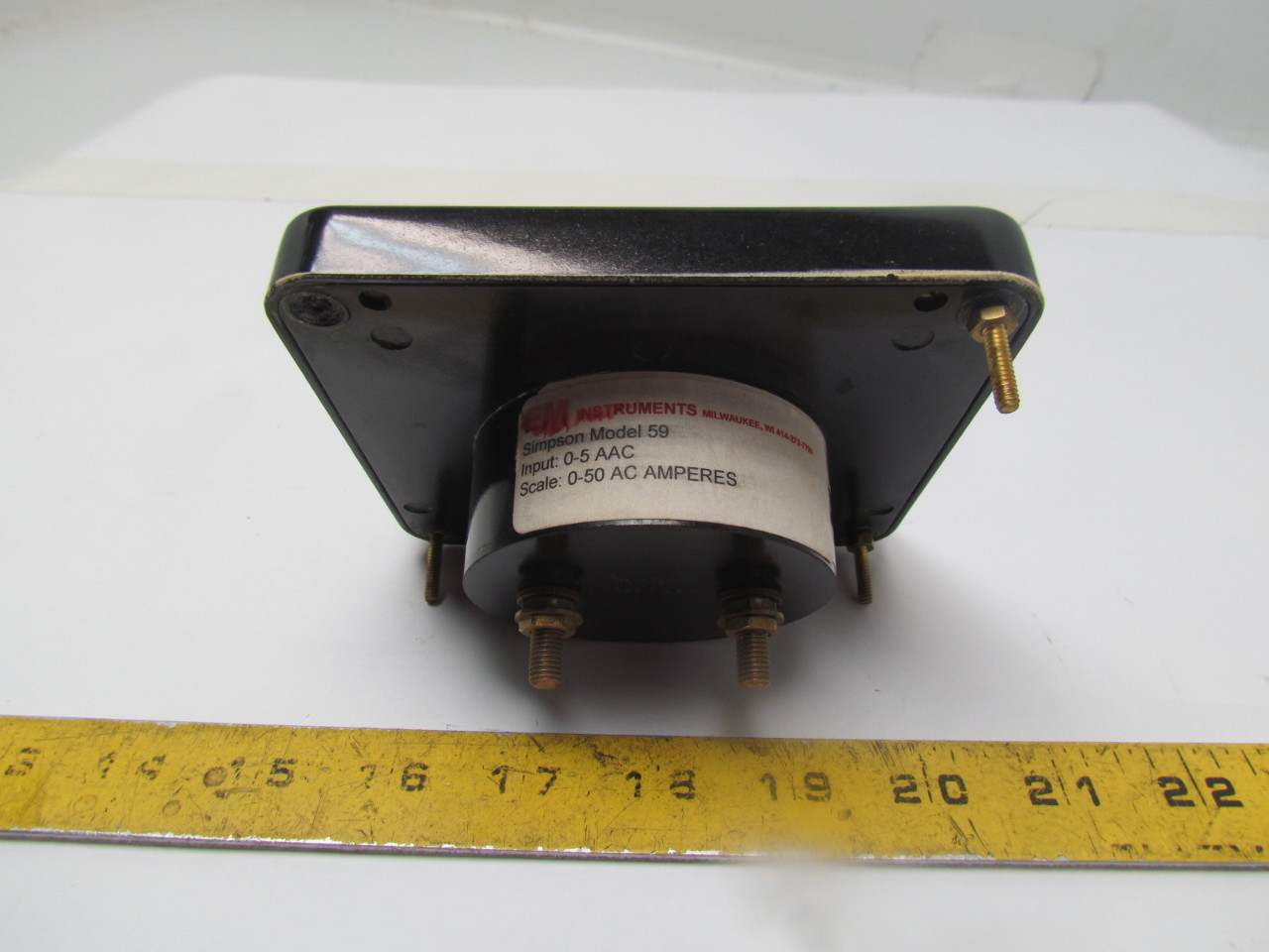 Simpson Panel Meter : Simpson amp meter analog panel mount ac ampers ebay