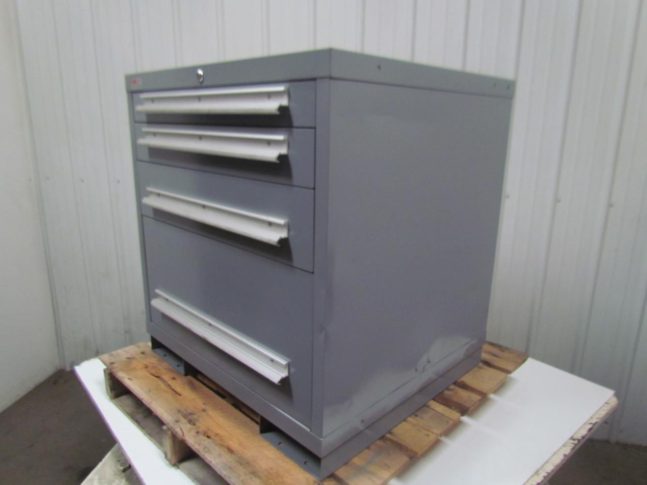 ... Lyon MSS II Safetylink 4 Drawer Industrial Storage Cabinet  30X27 3/4X32