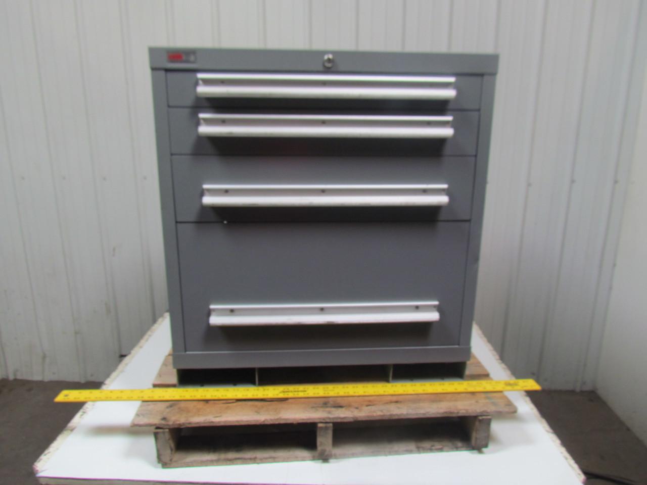 lyon mss ii safetylink 4 drawer industrial storage cabinet 30x27 3 4x32 ebay. Black Bedroom Furniture Sets. Home Design Ideas