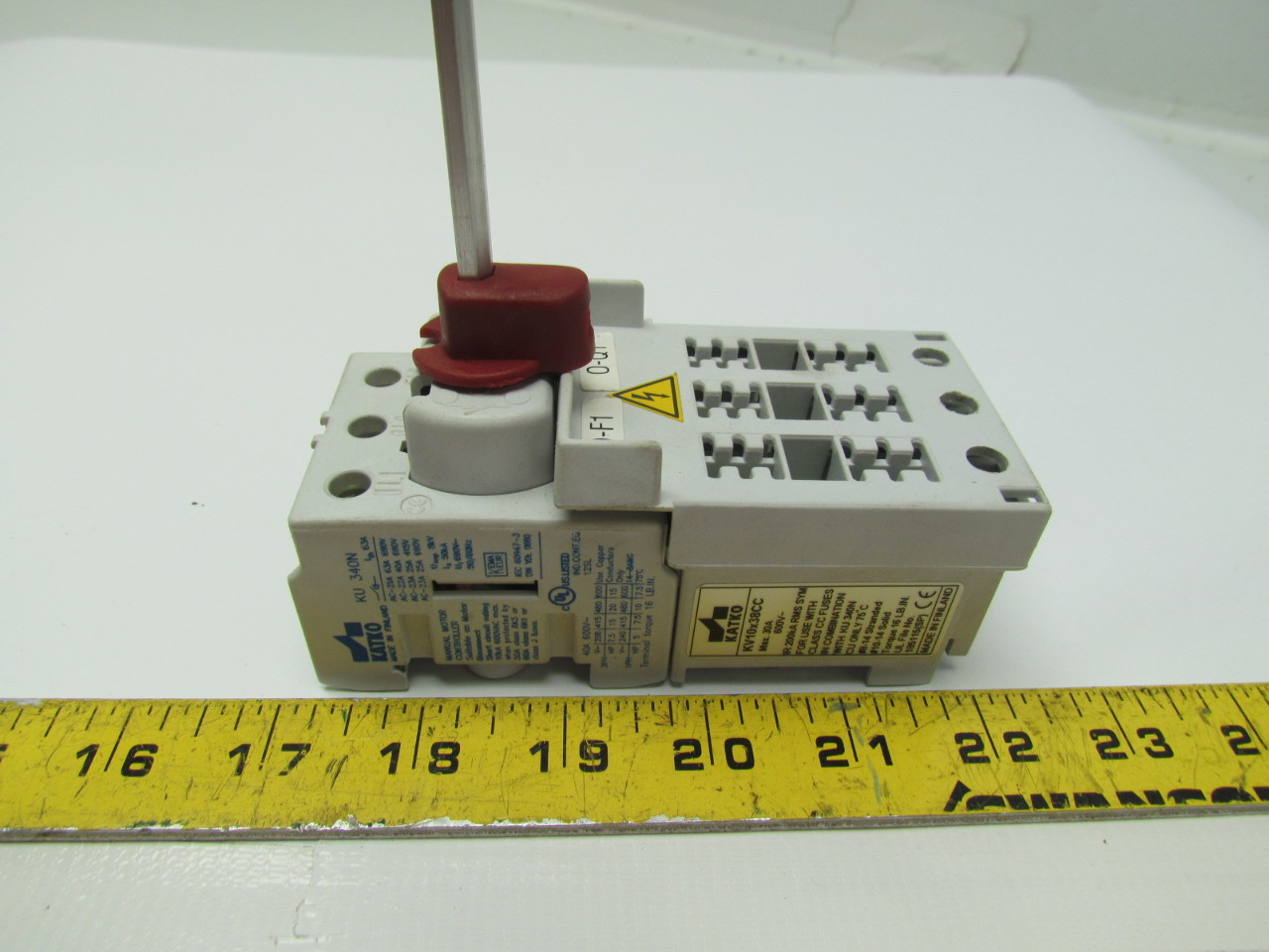 Katko Ku 340n 30a 3 Pole Fused Manual Motor Control