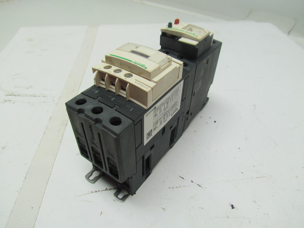 Schneider telemecanique lc1d65a 65a 3 pole contactor motor starter w over load ebay Telemecanique motor starter