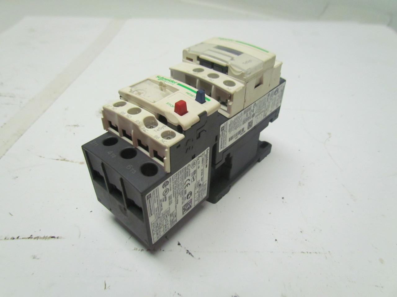 Schneider telemecanique lc1 d18 lrd 08 18a 3 pole contactor motor starter ebay Telemecanique motor starter