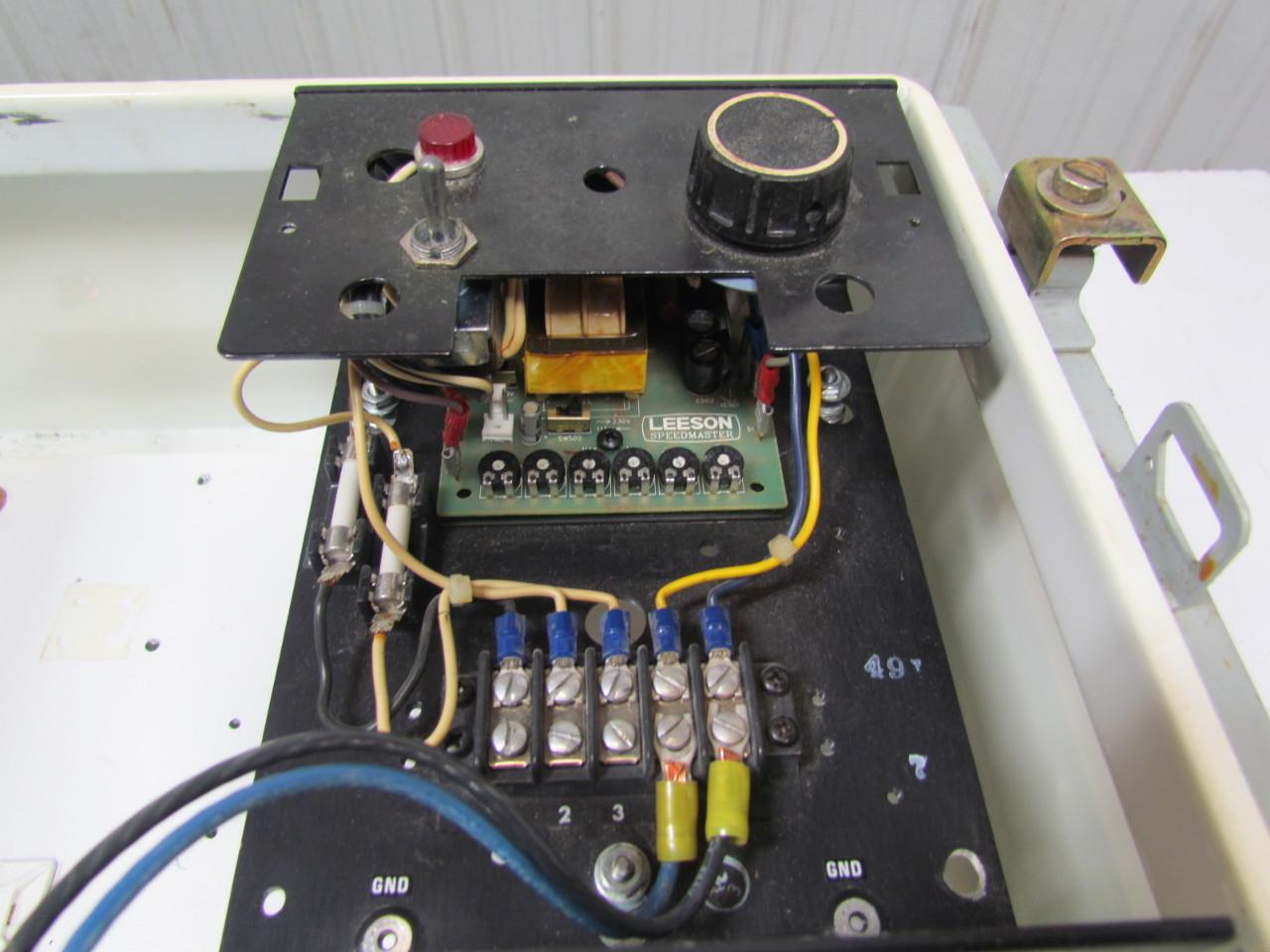 Leeson Speedmaster Wiring Diagram: Leeson C4D17FK4D Speedmaster Controller  6 DC Motor 1750RPM 3/4