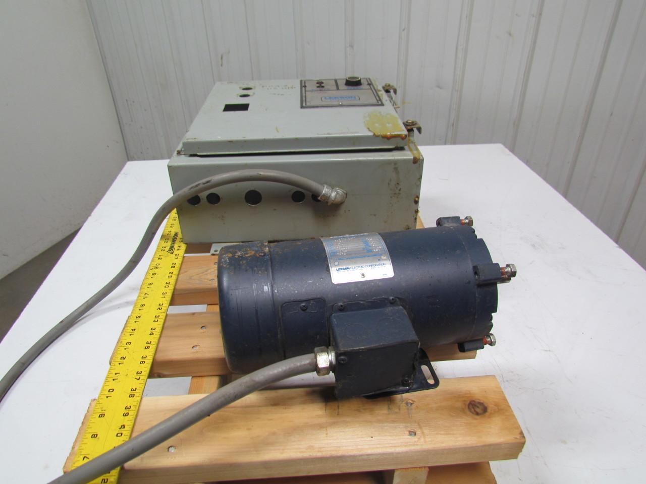 Leeson C4d17fk4d Speedmaster Controller Dc Motor 1750rpm