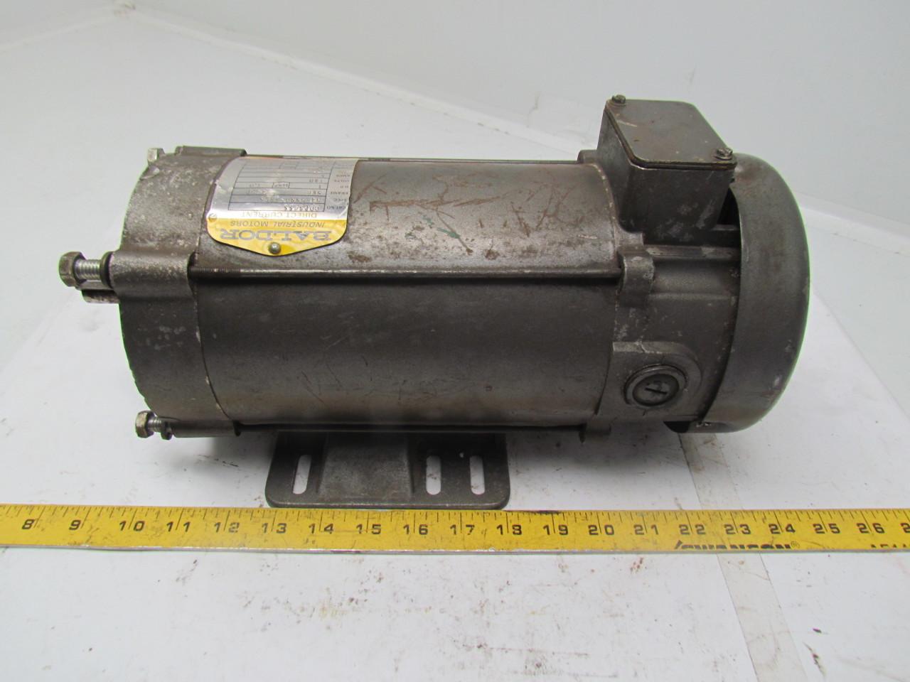 Baldor Cdp3455 Dc Motor 1hp 180v 5a 1750rpm Frame 56c Ebay