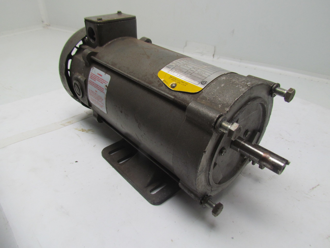 Baldor cdp3455 dc motor 1hp 180v 5a 1750rpm frame 56c ebay for 56 frame motor shaft size