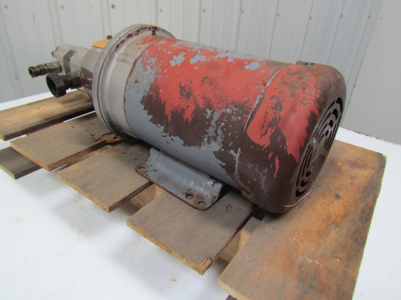Baldor cm3615t electric motor 5hp 3ph 1750rpm 184tc frame for Electric motor hydraulic pump