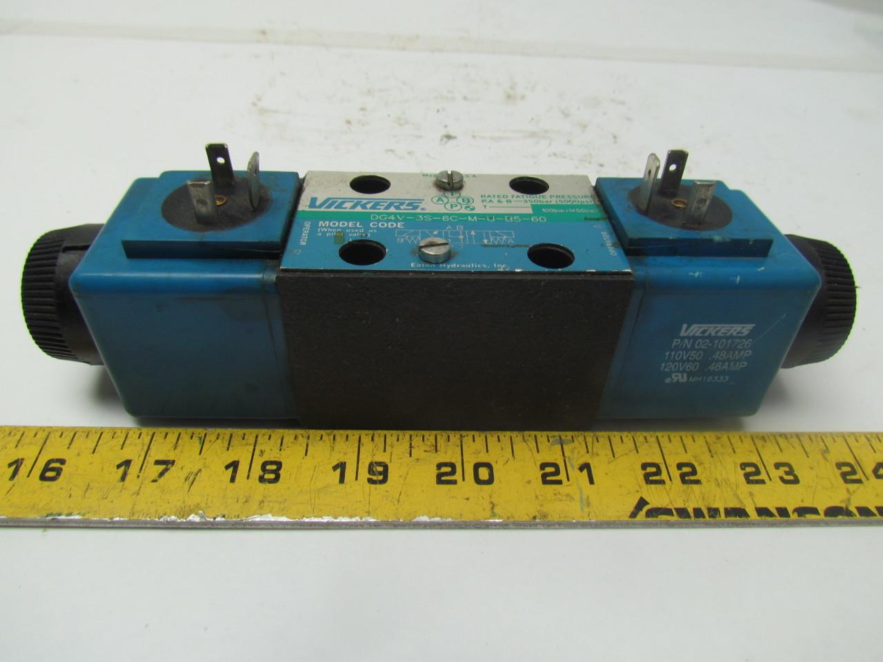Vicker DG4V-3S-6C-M-U-B5--60 120V Reversible Hydraulic Directional Control Valve