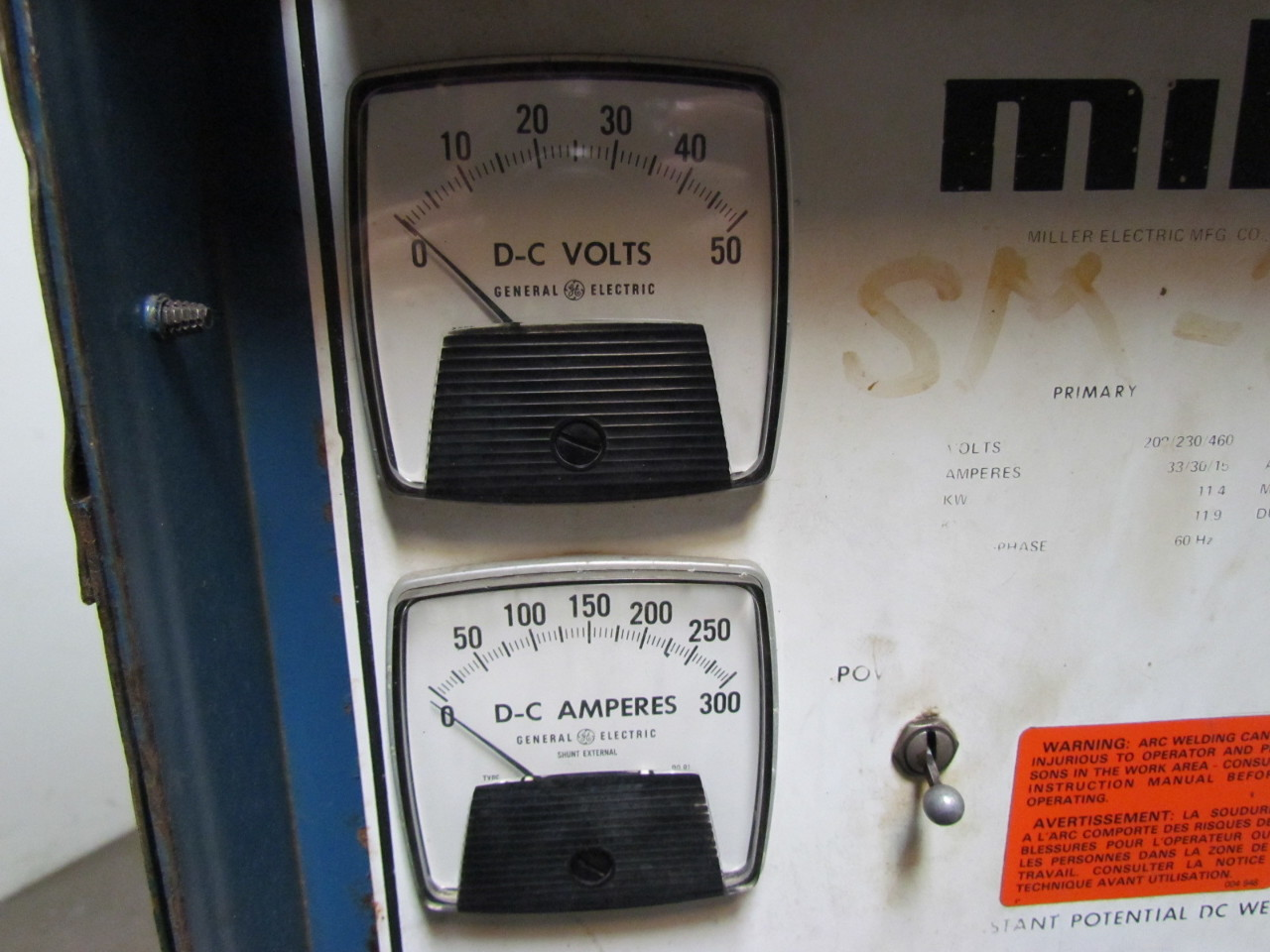 miller cpts cv dc welding power source amp ph dc welder  miller cp250ts cv dc welding power source 250amp 3ph dc welder 208 230