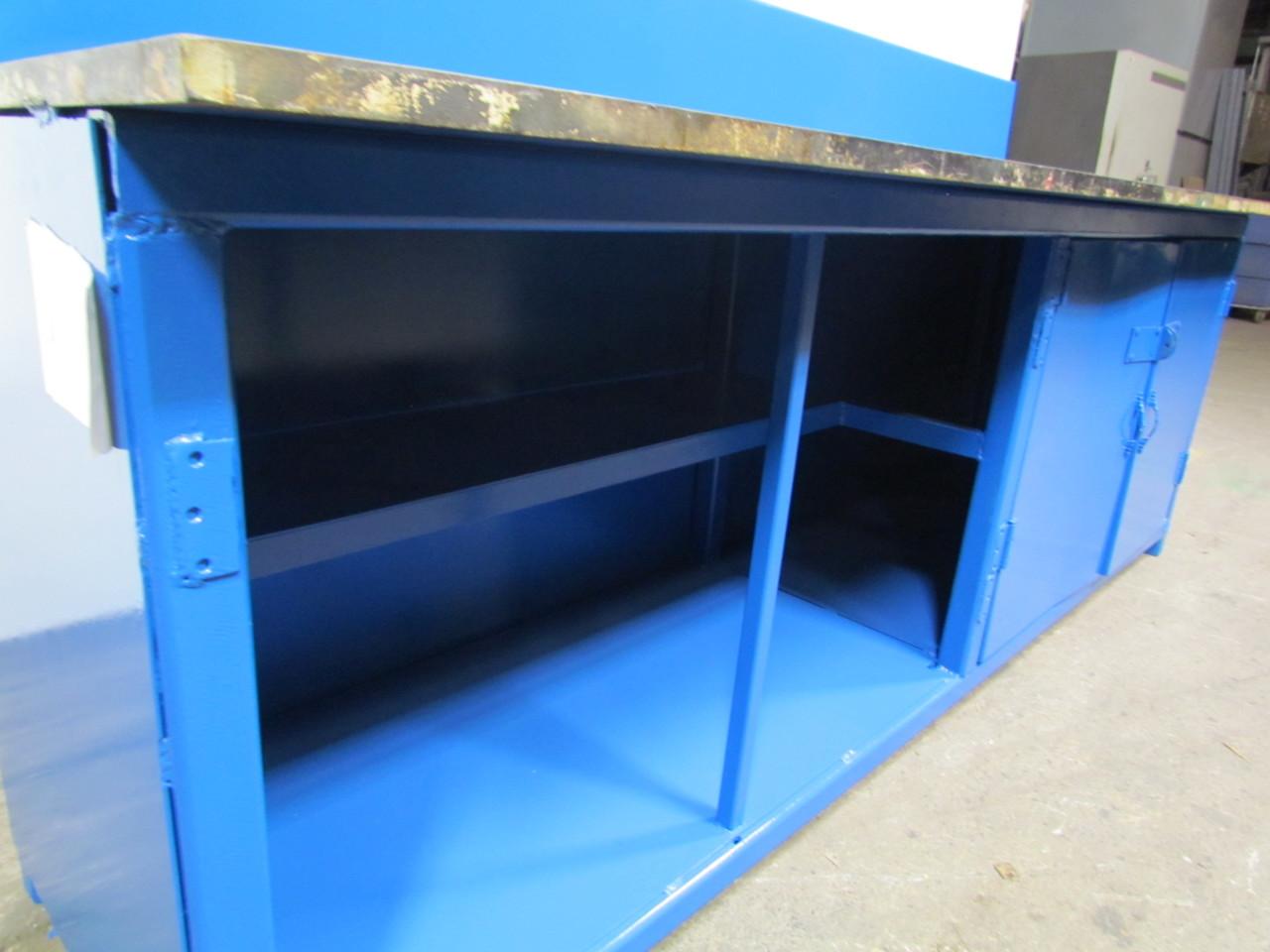 steel plate work weld bench w under shelf storage 1 thick. Black Bedroom Furniture Sets. Home Design Ideas