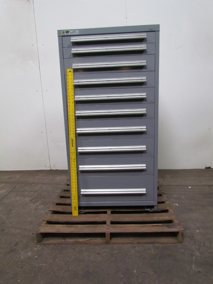 ... Used Stanley Vidmar Drawer Cabinets By Vidmar Stanley 10 Drawer Steel  Industrial Tool Parts ...