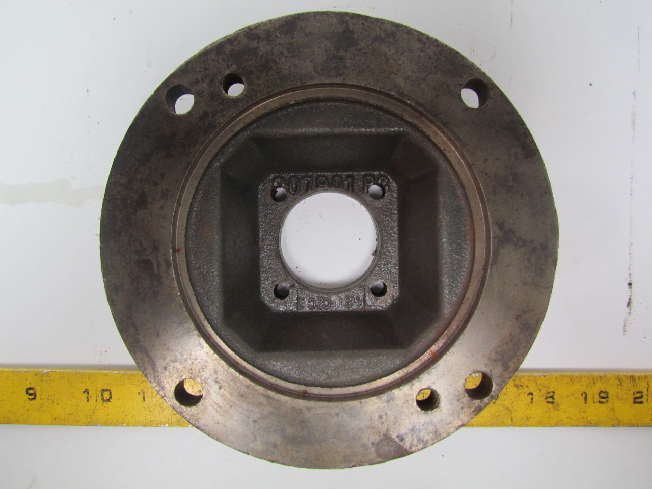 Gear reducer input flange adapter c face quot opening