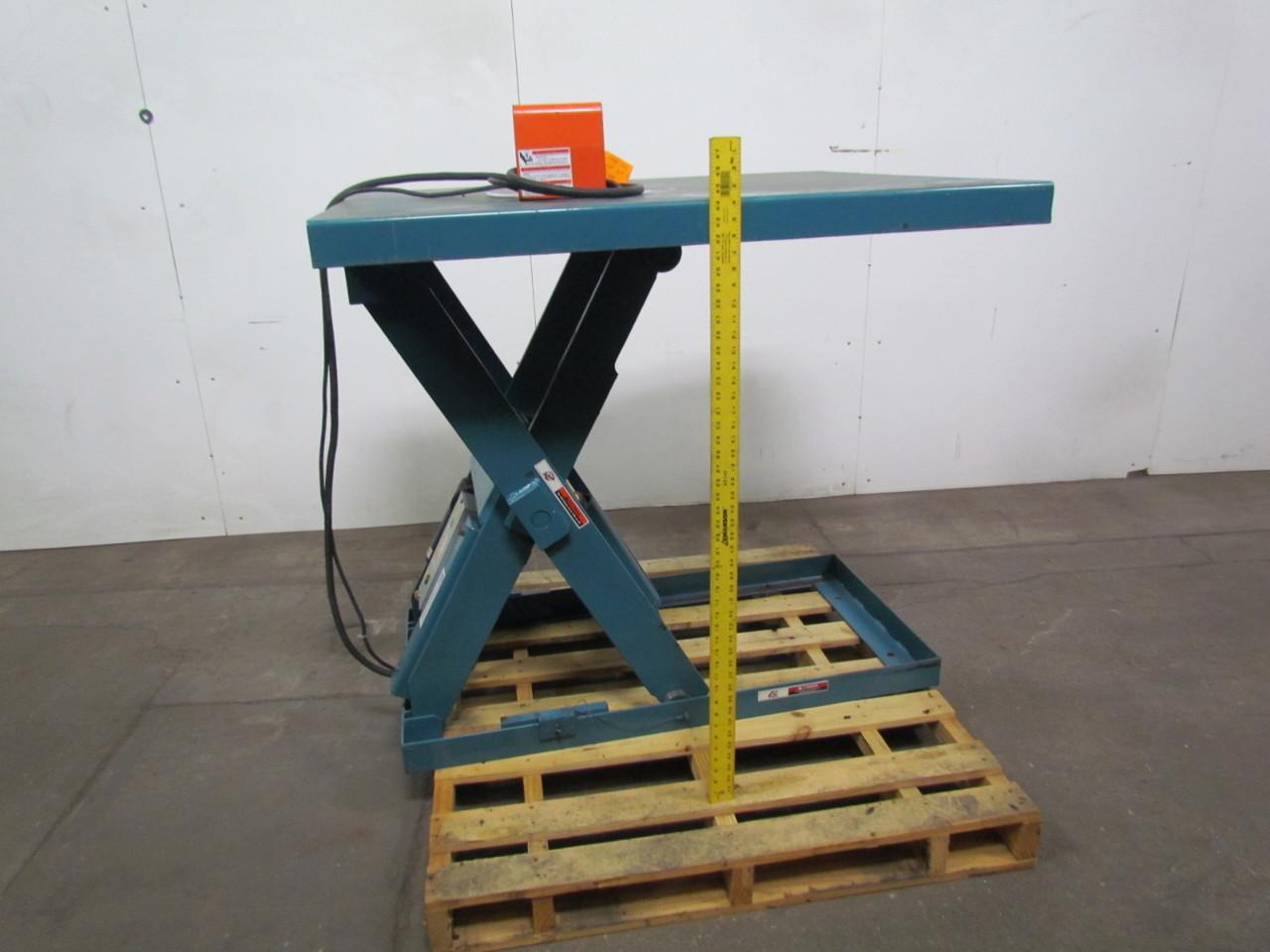 Used Hydraulic Lift Tables : Advance lifts p tz hydraulic scissor lift table lb