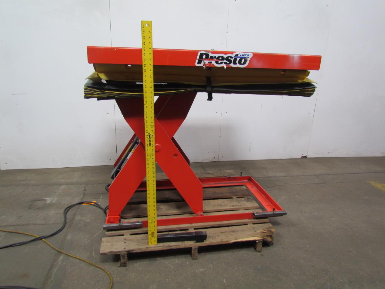 Presto Lift Tables : Presto xl electric hydraulic scissor lift table v