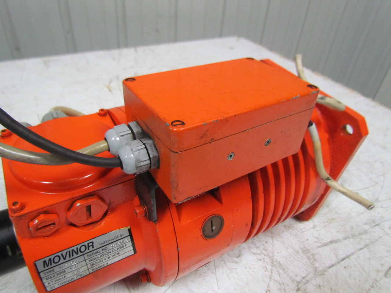 Movinor Mm8025s Servo Motor W Heidenhain Rod 426b 5000