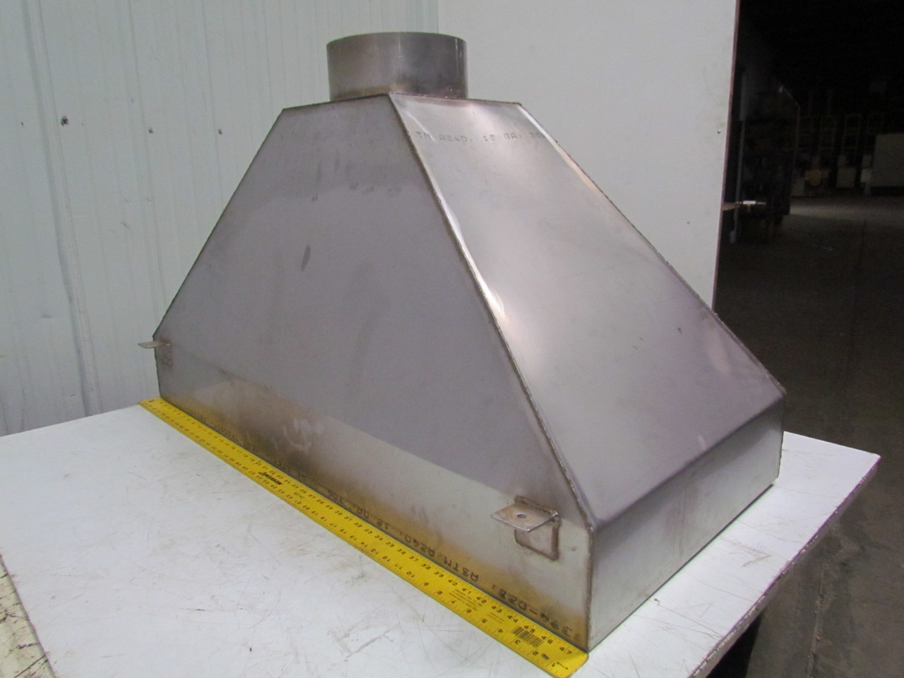 Stainless Steel Exhaust Hoods ~ Custom made quot x stainless steel smoke acid fume