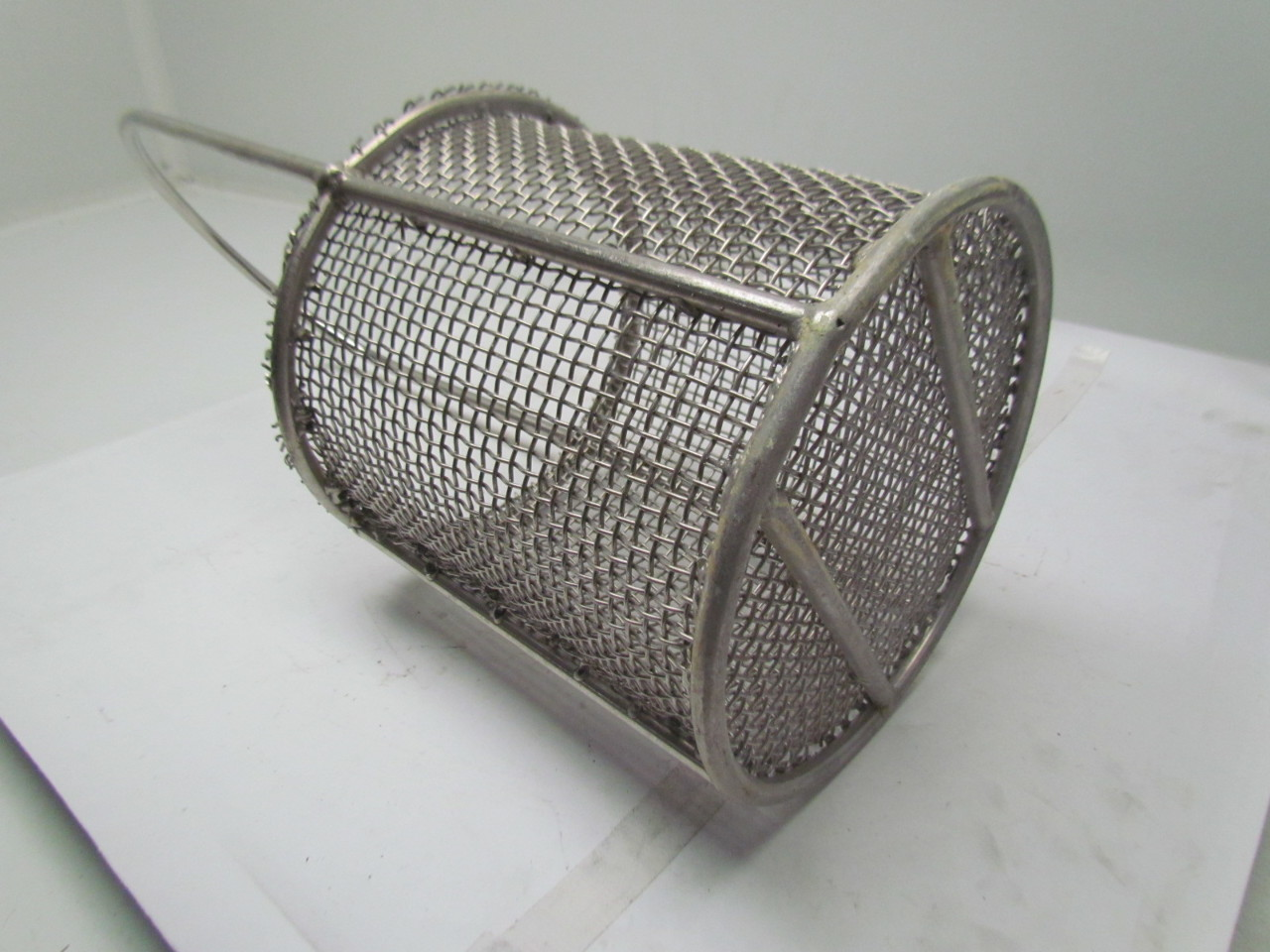 Stainless steel round wire parts washer dip basket 8 diameter 8 3 4 quo - Diametre cercle basket ...