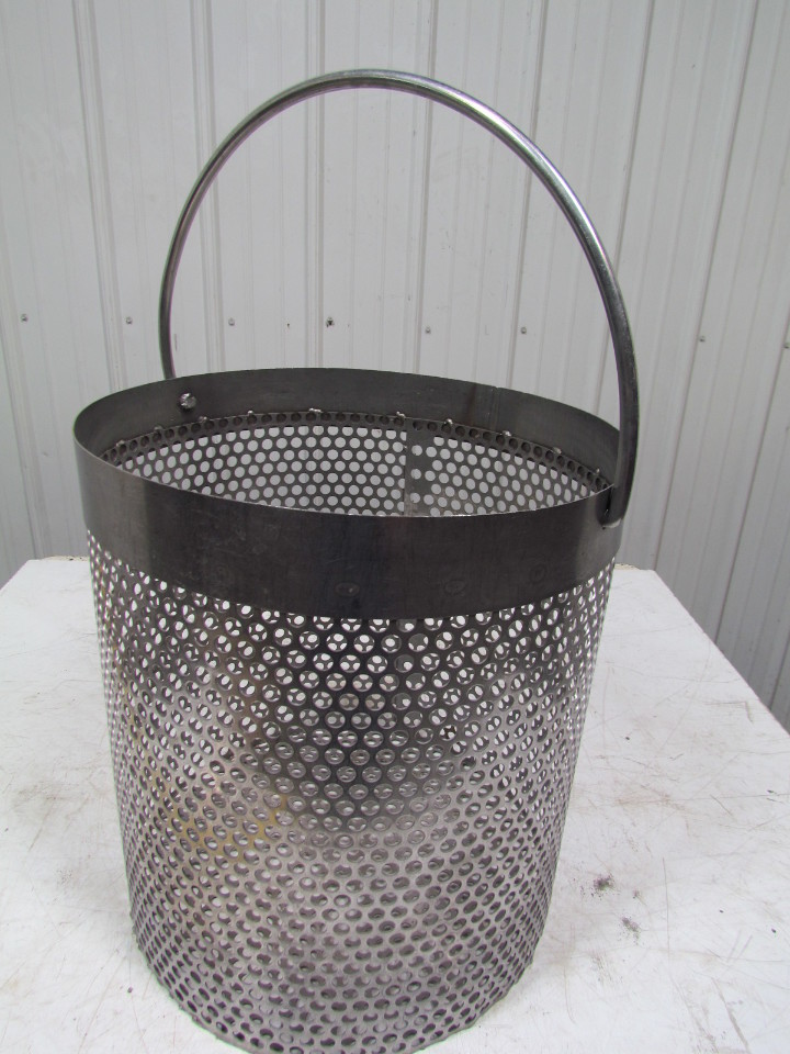 Stainless steel round parts washer dip basket 18 1 2 diameter x 20 quot - Diametre panier basket ...