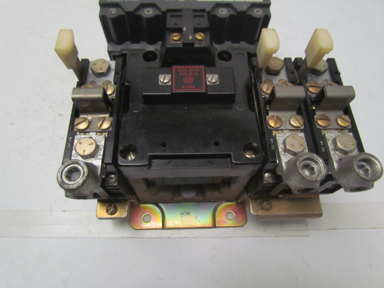 Ge General Electric 709 Dod103 Series K Size 3 Motor Starter 120v Coil Ebay