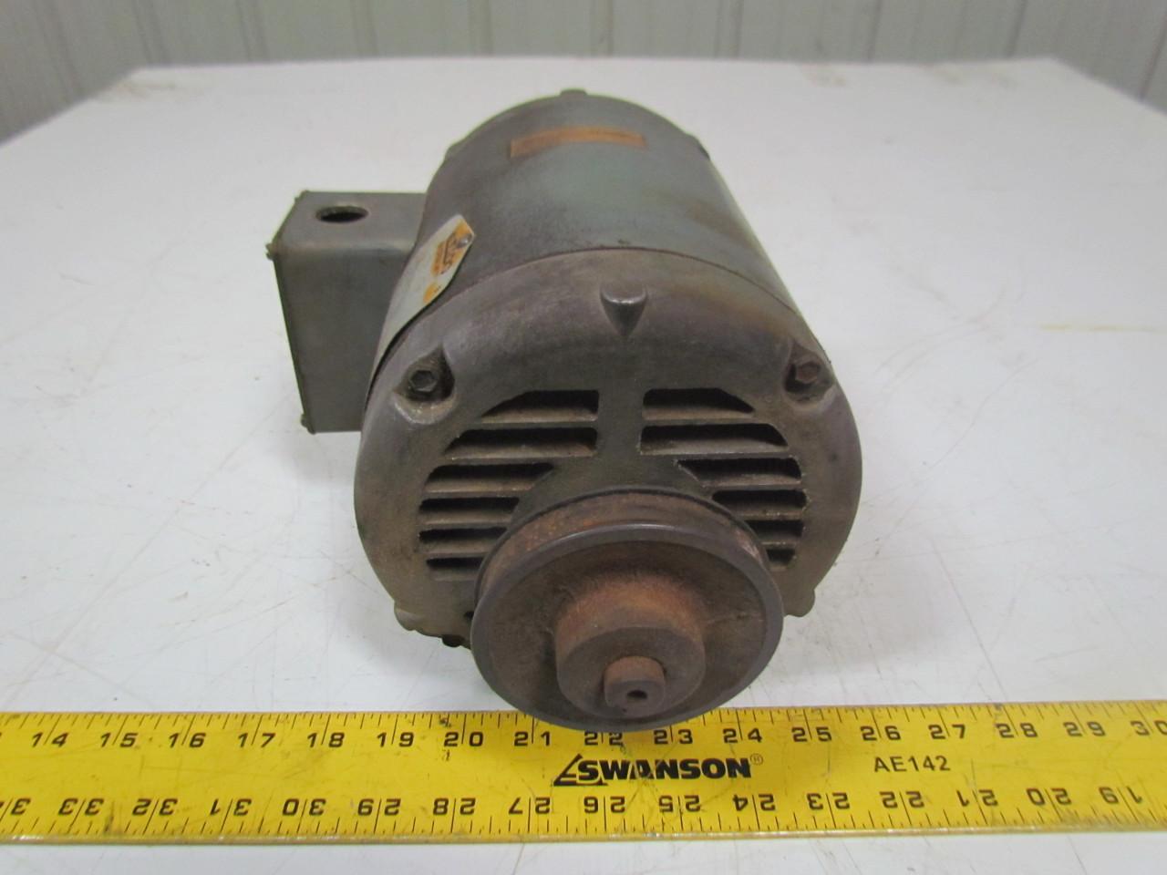 Baldor M3116 1hp Electric Motor 208 230 460v 3ph 56 Frame