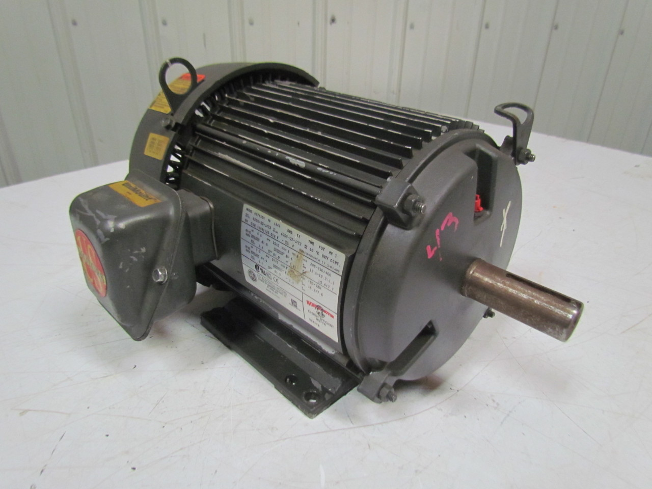 U s motors h17430a 5hp electric motor 208 230 460v 3ph for 5hp 3ph electric motor