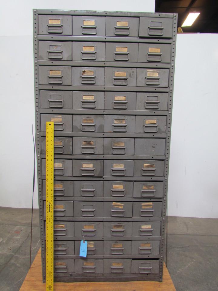 48 Drawer Industrial Metal Storage Parts Bin Cabinet 75
