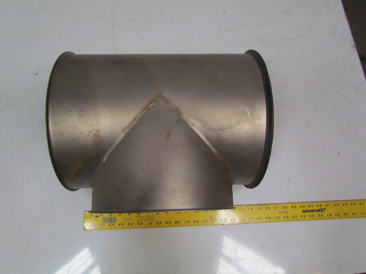 Quot stainless steel quick assembly duct tee fitting