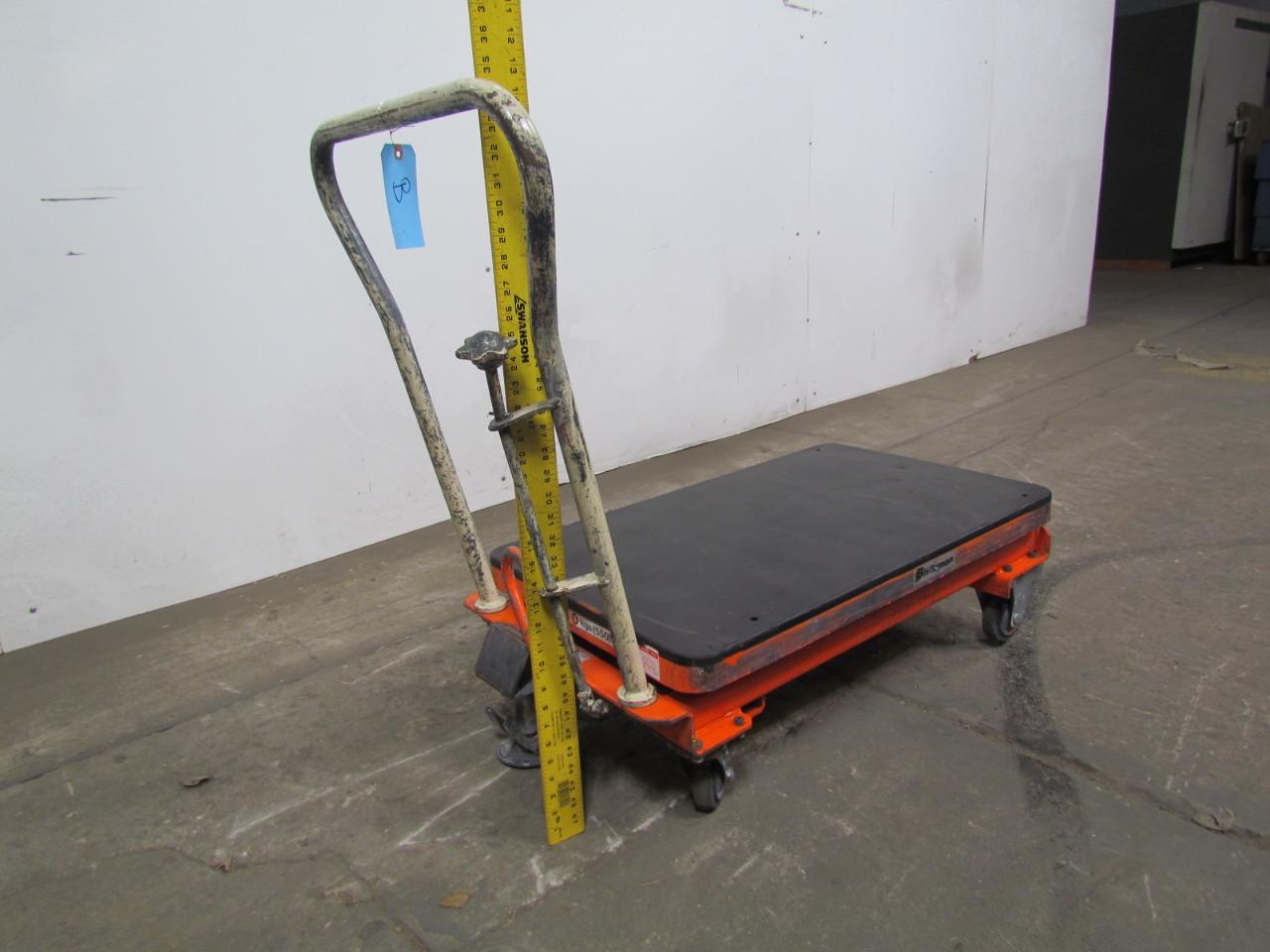 Used Hydraulic Lift Tables : Bishamon bx hydraulic elevating scissor lift table